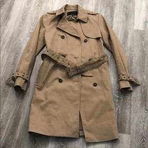Zara classic tan trench coat with belt